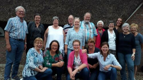 2019-7-10 groepsfoto vrijwilligers en zzp-ers van Het boerenleven