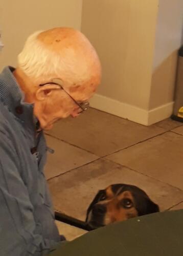 2020-01-14  Een deelnemer met de hond